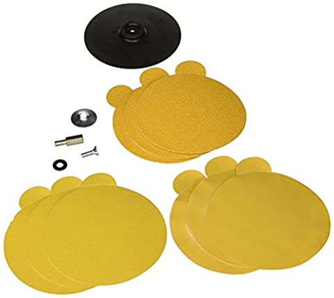 Vermont American 16980 5-Inch Rubber Backing Pad with Sanding Kit