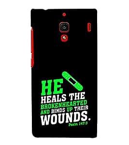 EPICCASE heals the broken heart Mobile Back Case Cover For Xiaomi RedMi 1S (Designer Case)
