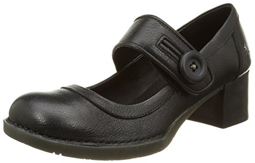 ART Bristol, Damen Mary Jane Halbschuhe, Schwarz (Total Black), 38 EU