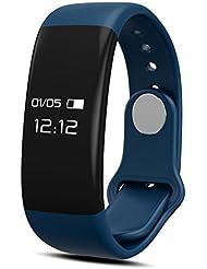 Kivors Smart Fitness Bracelet Blutooth 4.0 Health Tracker Activité Bracelet Podomètre Santé Calorie et Distance pour Android et iOS Smartphones