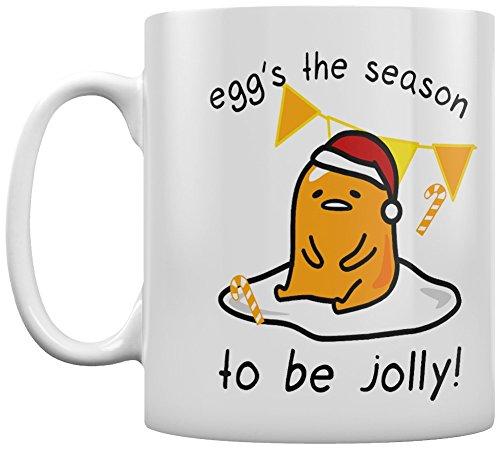 Huevo Gudetama de la temporada Navidad taza de cerámica, multicolor