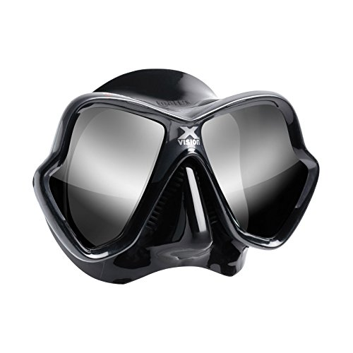 Mares X Vision Ultra Liquid Skin Masque de plongée, schwarz/silber verspiegelt