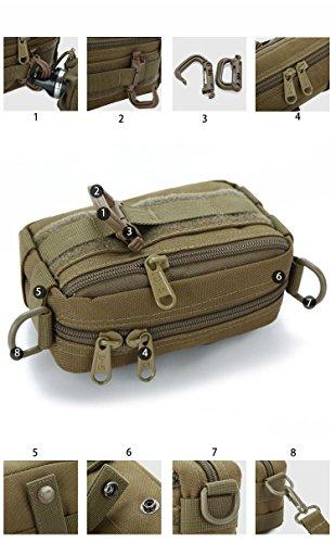 F@Piccola borsa Messenger per uomini e donne, borsa all'aperto dell'abbonato Camo Borsa a tracolla, mess Kit, casuale piccole borse uomo borsa sigaretta pacchetto, Digital Camo , black Black