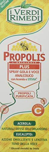 I Verdi Rimedi - Propolis L'Originale PLUS - Spray Gola con Acerola e Stevia