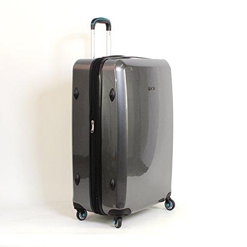 Koffer Trolley Reisekoffer Carbon Optik Polycarbonat Hartschalekoffer XL