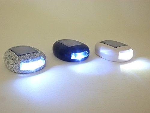 6 x LED Solar-Wegeleuchten Leuchte in Steinoptik mit Spieß Gartenleuchte Treppenleuchte...