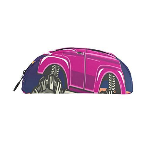 Fahrzeug Stift Tasche Organizer Federmäppchen Tasche Reißverschluss Kleine Make up Tasche Schreibwaren Studenten Klasse Kinder Junge Teen Mädchen Schule College Campus Geschenk ()