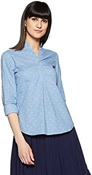 Styleville.in  Women's semi formal shirt with roll sl
