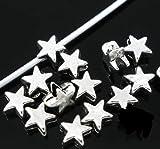 Lieblingsladen - Juego de 100 Perlas metálicas (6 x 6 mm), Color Plateado Envejecido