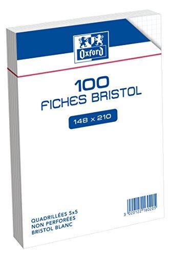 oxford-100101082-fiche-bristol-non-perforee-100-feuilles-a5-blanc