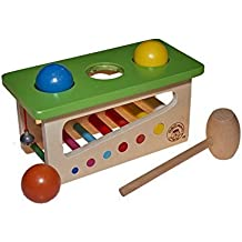3452f0527c31d Juguetutto - Juego Martillo con Bolas - Juguete de madera