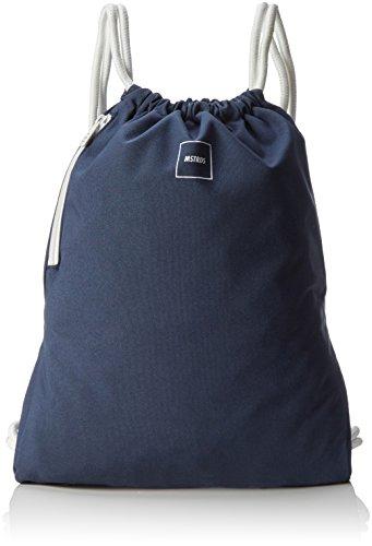 Gym Bag Rucksack navy One einfarbiger Turnbeutel im Hipster Stil ()