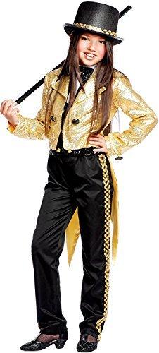 e Herstellung Mädchen Deluxe Broadway Tanz Truppe Zirkusdirektor Kostüm Kleid Outfit 3-10 Jahre - 5 years (Tanz Kostüme Hut Schwänze)
