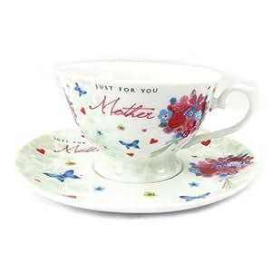 Tazza di porcellana 'Bouquet Romantique' per te mamma.