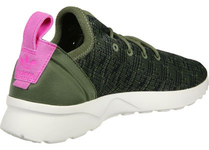 adidas ZX Flux ADV Virtue Sock W Olive Cargo Black Shock Pink Olive