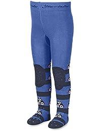 8701700bg Sterntaler Jungen Strumpfhose mit Streifen blau-grau