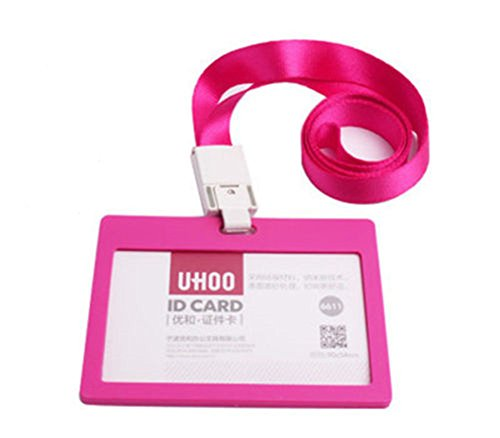 YARBAR Verticale Stile orizzontale Holder colorato di plastica Biglietto di credito di identificazione distintivo della carta con laccio