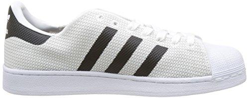 adidas Superstar, Chaussures de Course Homme Blanc (Footwear White/Footwear White/Core Black)