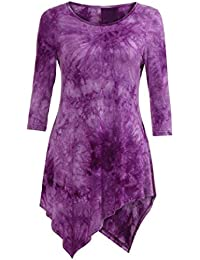 0d85bed7f4 KaloryWee Women's Vogue Shoulder Off Wide Hem Design Top Shirt Butterfly  Print Short Sleeve Tops Blouse