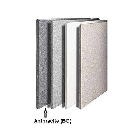 Radiateur electrique 600W en pierre reconstituée vertical H900mm L400mm anthracite BG LIKOMA RADSON LIV900400ELBG