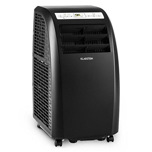 Klarstein Metrobreeze Rom • Klimaanlage • 10.000 BTU / 3,0 kW Kühlleistung • Wunschtemperaturen: 18-30°C • 3 Modi • 3-stufiger Ventilator • Kühlung • Trocknung • Klasse A+ • Fernbedienung • schwarz