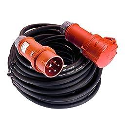 AS–Schwabe–Cavo prolunga CEE, 5m H07RN-F 5G4, 400V/32A/5poli, 1pezzo, colore: nero, 61305