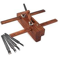 Handfläche Für Holzbearbeitung,Holz Handhobel Einstellbare Bankebene,Holz Flugzeug Schulter Flugzeug Einstellbar Hand Flugzeug Holzbearbeitung Werkzeug Für Carpenter Woodcarver Mit 5 Hobelmessern