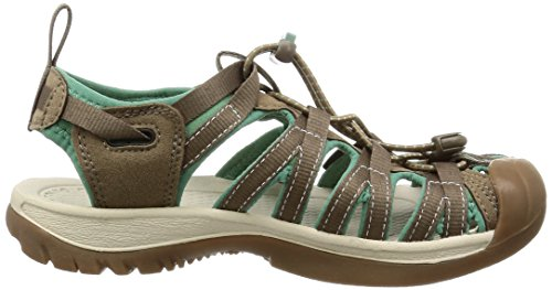 Keen WHISPER 5124-BKGA Donna Outdoor Sandali Marrone (Shitake/Malachite)