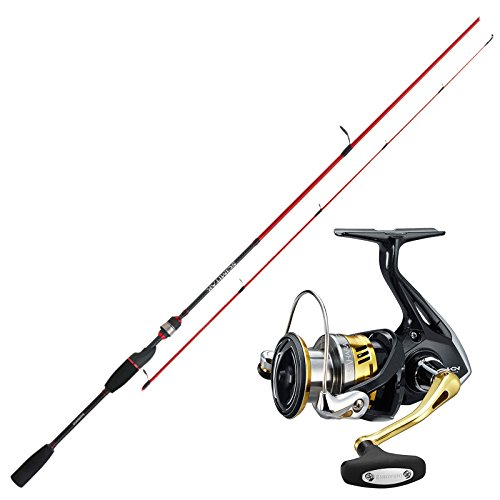 SHIMANO Angelset Hecht Angeln Rute Rolle - Spinnangeln Combo No3