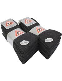 Lot de 10 paires de chaussettes professionnelles - hautement résistantes - noir/gris foncé/vert kaki