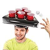 Cappelli Gonfiabili per Birra- Cappelli Gonfiabili per Birra Pong Pool Party Game Giochi da Giardino-Anello da Lancio Strumenti per Puntali per Bambini Adulti (Solo Cappelli)
