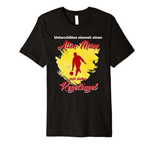 Herren Rentner Kegeln Kegelshirt Alter Mann Kegelsport T-Shirt Idee