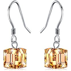 JR INTL Damen - 925 Sterlingsilber Sterling-Silber 925 Farblos Kristall