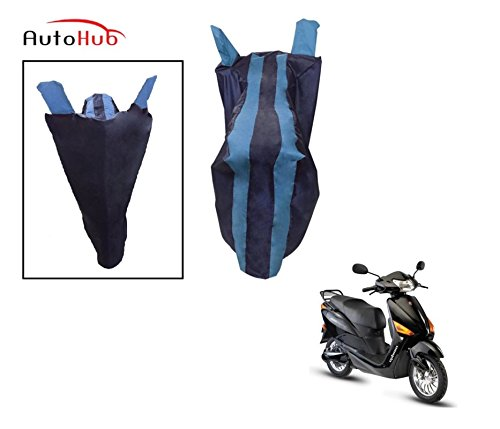 Auto Hub Premium Two Wheeler Cover For Hero Electric Optima - Black-Blue  available at amazon for Rs.275