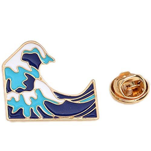 Zonfer Ocean Wave Broschen Pins Kleidung Rucksack Tasche Accessoires Schmuck