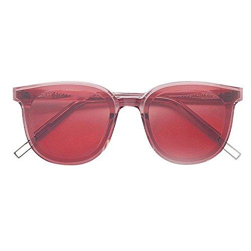 XHCP Frauen Klassische Sonnenbrille Graceful Frauen Sonnenbrille Cat Eyes Acetate Fiber Rahmen Harz Objektiv UV Schutz Driving Party Vacation Sonnenbrille (Farbe: Rot)