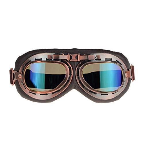 OLDK NEUE Stil Motorrad Brille Pilot Motorrad Brille Leder Retro Jet Helm Brillen, c4