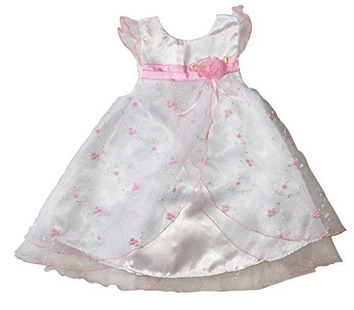 Seruna Tauf-Kleid Y11A Gr. 80/86 Baby-Kleider für Mädchen zur Taufe u. Hochzeit Geschenk-e für Babies (Niedliche Baby-mädchen-sachen Billig)