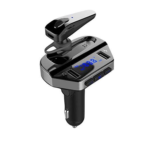 KAIFH Bluetooth Kopfhörer Auto Bluetooth Headset Blue Screen Dual USB Smart Auto Auto FM Player Power Display, Sprachsteuerung, Call-Funktion, Support Musik, Multi-Point-Verbindung - Kunden-service-telefon-nummer