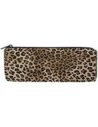 3041d9c743 Wowprint Pencil Cases Animal Leopard Tiger Print zipper cancelleria  portapenne sacchetto multifunzionale cosmetici trucco borsa per