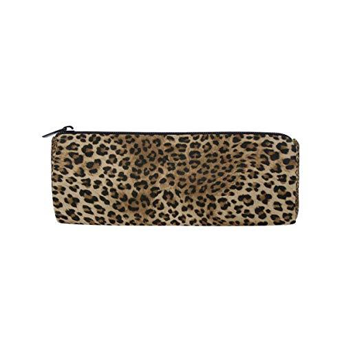 Wowprint Pencil Cases Animal Leopard Tiger Print zipper cancelleria portapenne sacchetto multifunzionale cosmetici trucco borsa per scuola lavoro ufficio viaggi