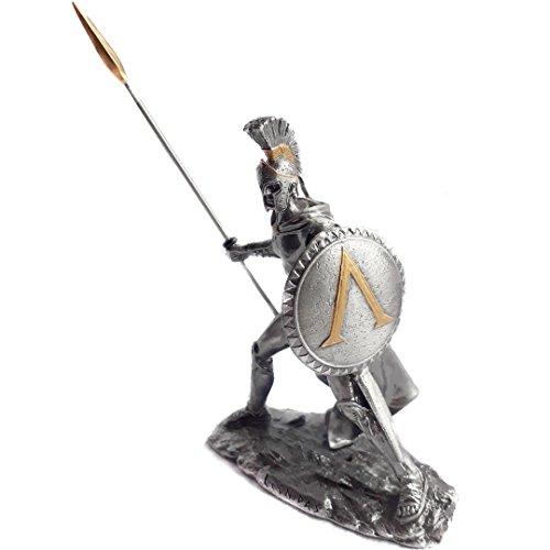 Leonidas Zinnfigur vergoldet 12cm