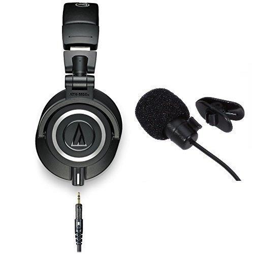 Audio-technica ath-m50x professional studio monitor headphones with in line mic