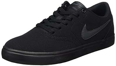 Nike SB Check Solar CNVS, Sneakers Basses Homme, Noir Black/White 001, 41 EU: Amazon.fr