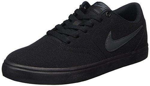 sports shoes 773ab e4760 Nike Mens Sb Check Solarsoft Canvas Trainers, Black (BlackAnthracite), 9