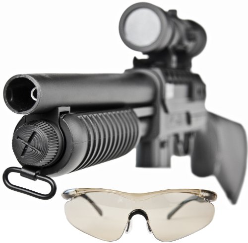 Softair-Gewehr Pumpgun Schrotflinte M47A Spielzeug-Waffe max. 0,5 Joule im Set mit 6 mm BB Airsoft Munition (Guns Elektrische Airsoft Metall)