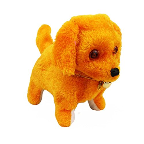 Gelbe Kind Kostüme Ninja (Xshuai 20 * 9 * 13,5 cm Neue Roboter Nette Elektronische Walking Pet Hund Welpen Kinder Spielzeug Mit Musik Licht)