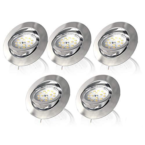 LED Einbauleuchte 5er Set inkl. 5x LED Modul 5,5W 470lm dimmbar schwenkbar Einbaustrahler Einbauspot warmweiss rund