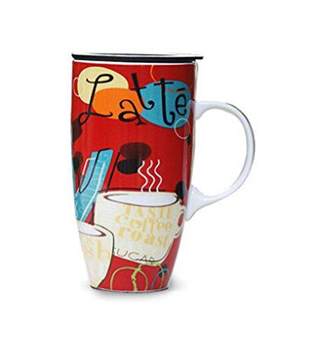 La Grande contenance Creative Peinture Mug en céramique Tasse à café £ ¨ Rouge £ ©