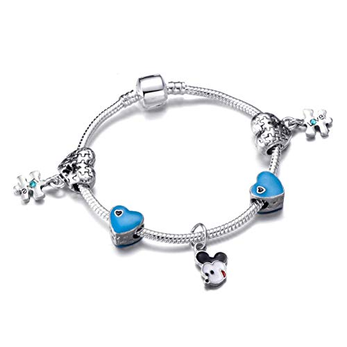 YCWDCS Armband Einzigartiges Design Liebe Charme Armband Mickey anhänger Pandora Armband für Frauen mädchen modeschmuck Geschenk (Mädchen-charme-armband, Wie Pandora)